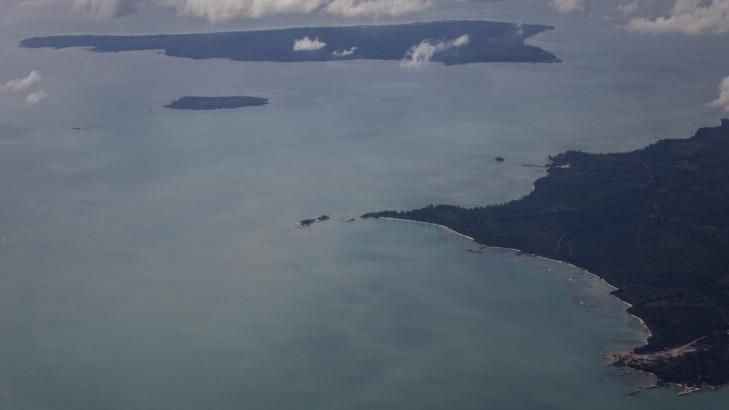 An aerial view of Belitung, the search area for the missing plane. - Getty Images