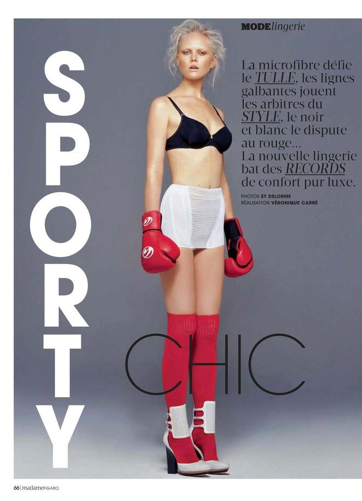 Anne-Sophie Monrad - Madame Figaro - SPORTY CHIC by Sy Delorme
