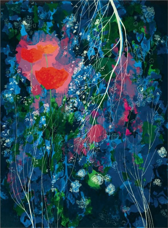 Eyvind Earle. Poppies. 1976.