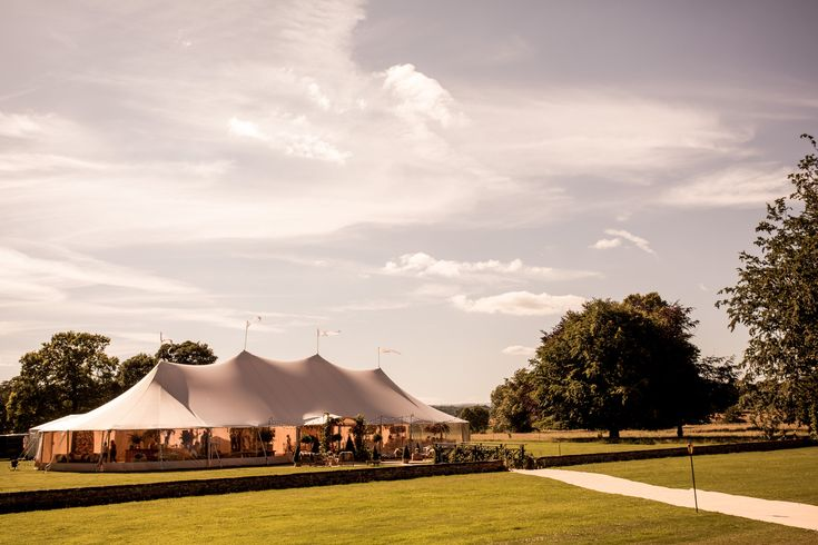 Wedding marquee at Newby Hall in North Yorkshire
