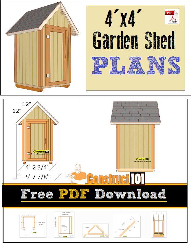 Garden Sheds 4x4 29 best shed plans images on pinterest | free shed plans, garden