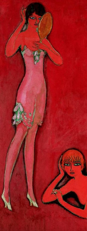 By Kees van Dongen (1877-1968), 1914, (detail) Intérieur, Miss Miroir, Miss Collier and Miss Sopha, Oil on canvas.