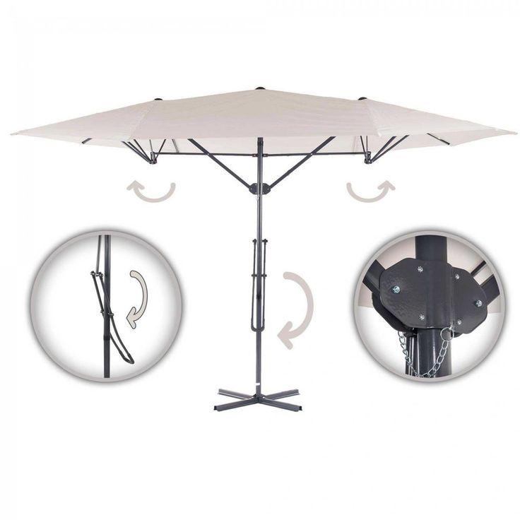Strattore Sonnenschirm Ampelschirm Schirm Komfort Gartenschirm 4,25 X 2,5m  Creme In Garten