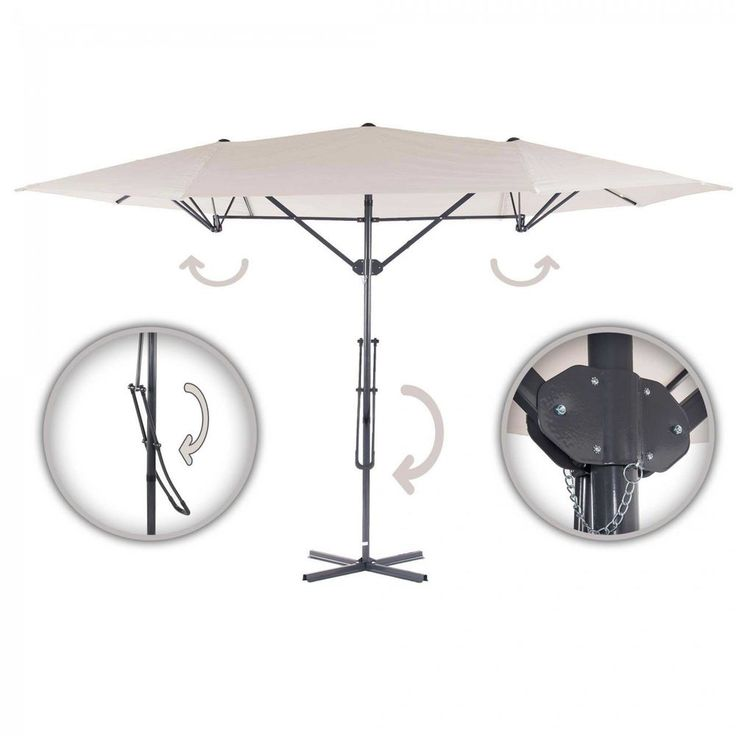 Strattore Sonnenschirm Ampelschirm Schirm Komfort Gartenschirm 4,25 x 2,5m creme in Garten & Terrasse, Gartenbauten & Sonnenschutz, Sonnenschirme | eBay
