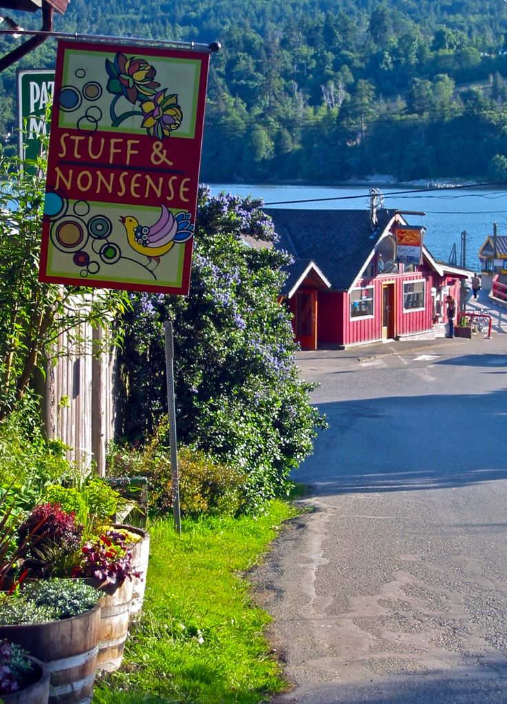 The Village at Fulford Harbour, Saltspring Island ..I once owned a cabin on this island..right on the sound!! Heavenly!