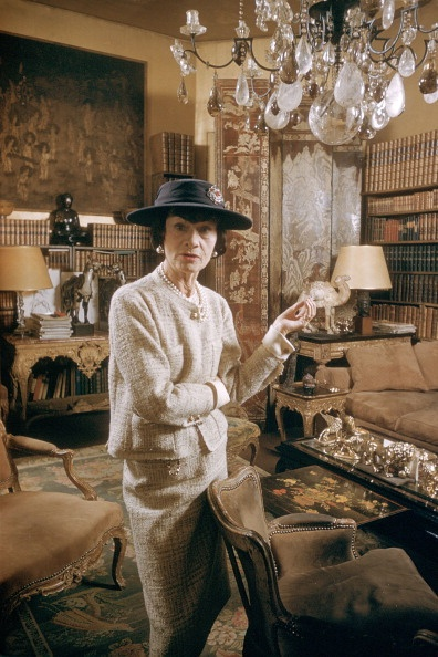 Coco Chanel at her partment on Cambon Sreet, circa 1959
