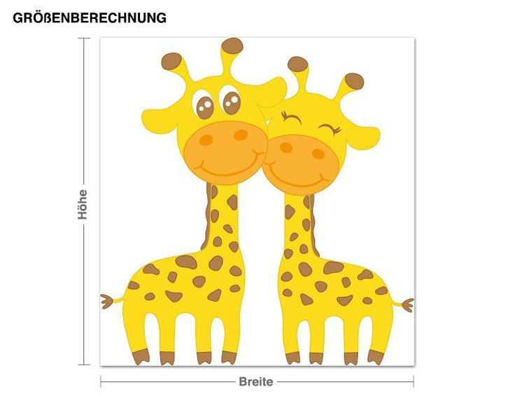 Best Wandsticker Verliebte Giraffen Online ShoppingIdeas Wandsticker Verliebte Giraffen Wandtattoos Kinderzimmer Tierische Freunde