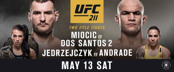 FOLLOW AND SHAREUFC RETURNS TO DALLAS WITH A STACKED CARD AND TWO WORLD TITLE BOUTS WHEN STIPE MIOCIC TAKES ON JUNIOR DOS SANTOS AND JOANNA JEDRZEJCZYK CLASHES WITH JESSICA ANDRADE Plus: (#2) FRANKIE EDGAR vs. (#9) YAIR RODRIGUEZ (#3) DEMIAN MAIA vs. (#6) JORGE MASVIDAL (#3) EDDIE ALVAREZ vs. (#10) DUSTIN POIRIER (#2) HENRY CEJUDO …