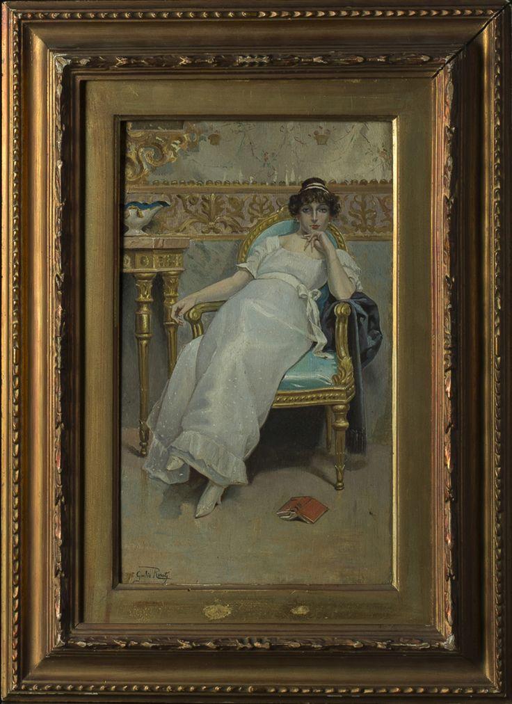 A painting attributed to Luigi Rosati Italy, 20th Century