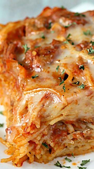 Baked Spaghetti - delicious pasta dinner.