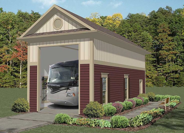 17 best ideas about rv garage on pinterest rv garage for Carport apartment plans