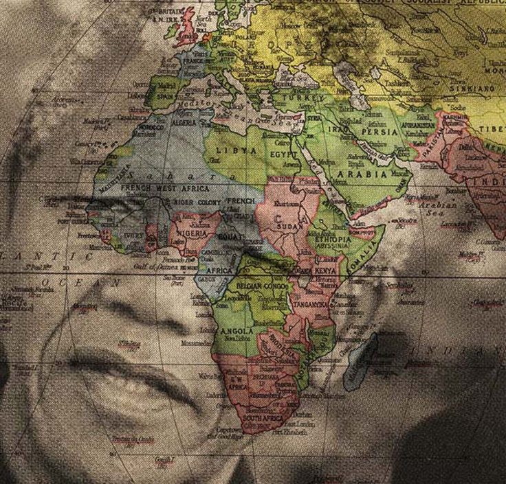 Africa Map Horn Of Africa%0A I bought one  Mandela and Maps  perfect mix