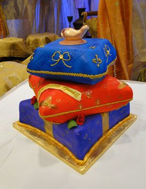 Indian cakes indian wedding cakes aladdin themed pillow for Aladdin indian cuisine