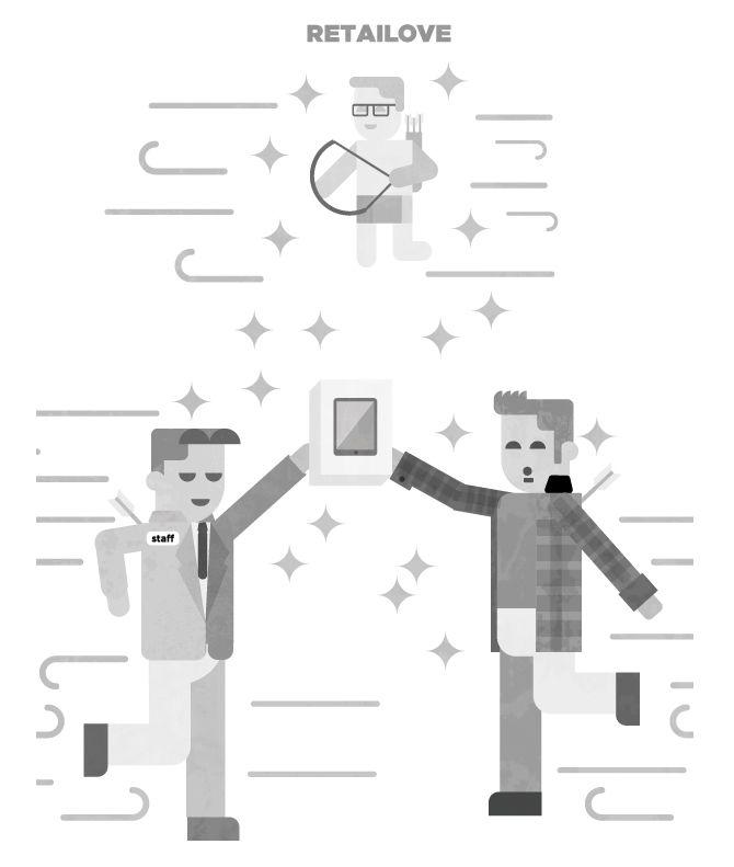 Ilustración vectorial creada para Retailholic  www.rootstudio.es