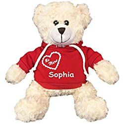 30 best personalized teddy bears for baby images on pinterest personalized be mine snuggle bear cream 11 inch red hooded shirt personalised teddy bearspersonalised giftsvalentine giftsbaby negle Gallery