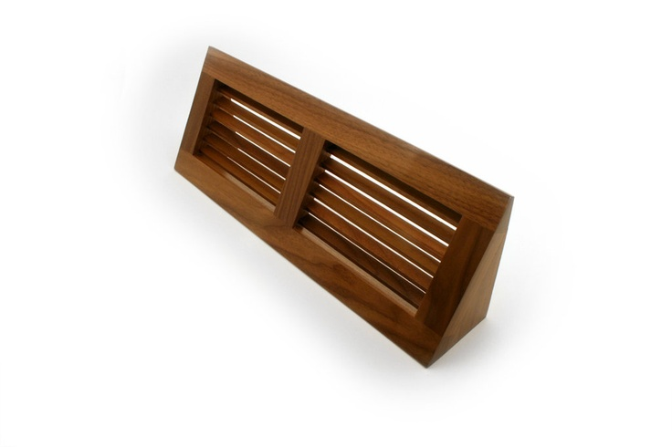 The baseboard diffuser is designed for use in homes where duct openings are located at the wall edge of the floor or at the base of the wall. They provide two way diffusion and offer an aesthetically pleasing look to any home. Corner base vents do not have a damper system.
