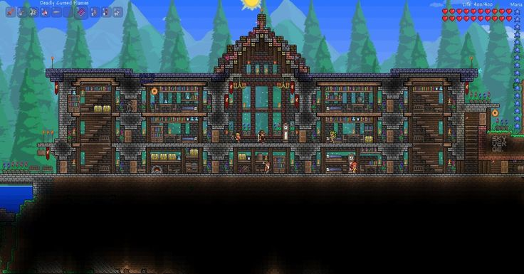 Skyverge's Terraria Structures: Three-story Houses