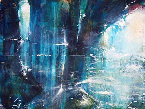 "Navigating Sorrow  .  Oil on canvas  .  40"" x 30"" . 2013"