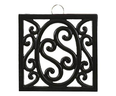 Sottopentola in ferro nero, 18x18x2 cm