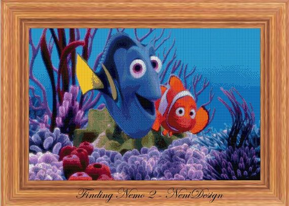 Cross stitch pattern custom made for you Finding Nemo 2 - cross stitch pattern.  PLEASE READ THE ENTIRE PAGE CAREFULLY BEFORE YOU BUY!  Computer Generated Pattern! Digital computer model - not printed on paper. This is a pattern only! Not a kit or finished piece! No fabric or floss are included in this listing!  This is NOT a finished cross stitch. The pattern includes a color legend for DMC pearl cotton. This pattern arrives as an Instant Download! A few minutes after your payment is…