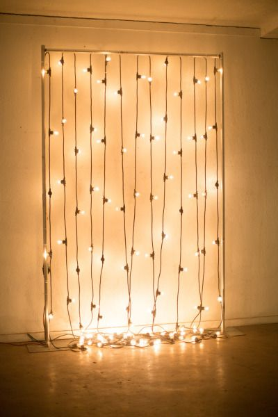 Such a simple design and a great idea for a holiday party photo booth backdrop.