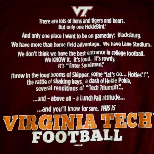 VT Football #VirginiaTech #Hokies #Football