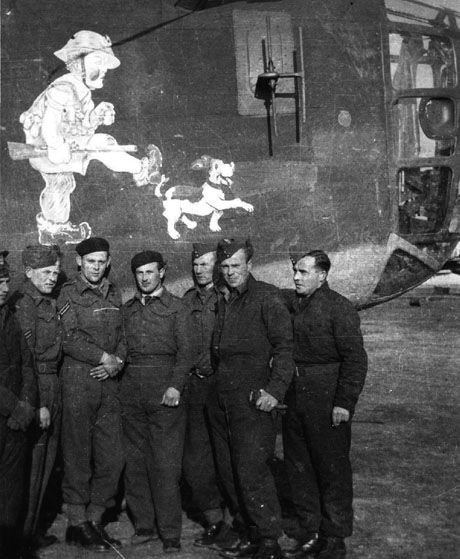 Polish aircrew for 1586 Squadron in Brindisi