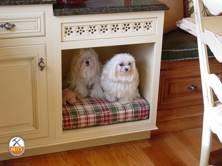 Bow Wow! Cozy place for man's (and woman's) best friend to hang out! Wycombe Court Door Family ~ Design by Bisulk Kitchens