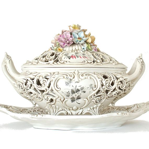 Vintage Italy Soup Tureen   Add it to your favorites to revisit it later.