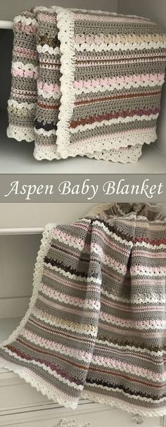 Crochet Baby Blanket Pattern - Aspen Woodland Baby Blanket by Deborah O'Leary Patterns