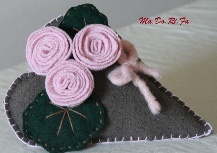 cuore in lana cotta