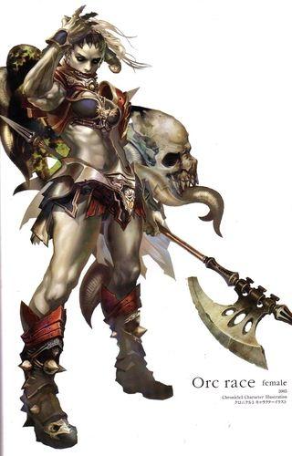 half orc barbarian greataxe - Google Search | Bassi ...