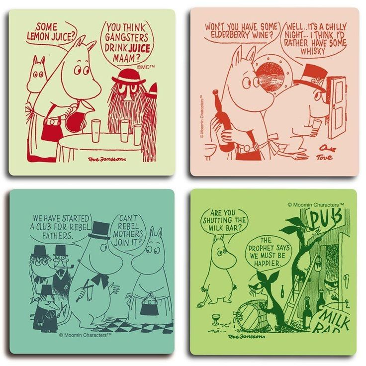 Moomin rebels coaster set by Opto Design - The Official Moomin Shop  - 1