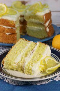 Just Like Olive Garden's Lemon Cream Cake
