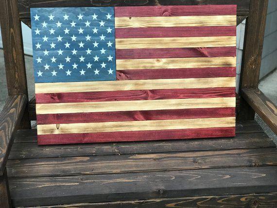 Rustic American Flag Wood Flag American Flag Americana Etsy American Flag Wood Rustic American Flag Wooden Flag
