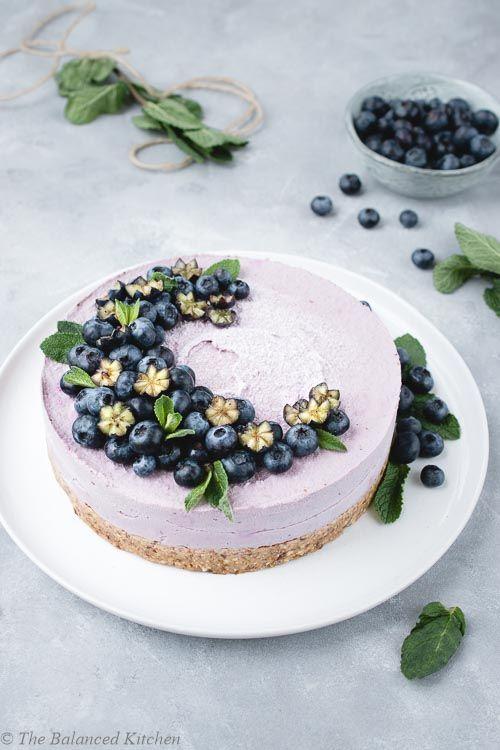 Raw Vegan Lemon Blueberry Cheesecake Recipe Raw Cheesecake Raw Vegan Cake Raw Vegan Desserts