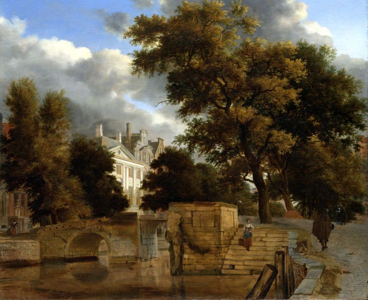 Jan van der Heyden,Adriaen vande Velde: De stenen brug (1660-1672)