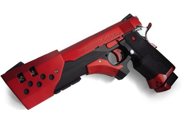 その超大型カスタム拳銃は、その名の通り火竜を連想させるスタイリングと真紅のボディ。仕様弾薬は.45口径...
