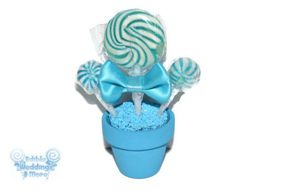 Light Blue Lollipop Place Setting, Lollipop Favor, Candy Favor, Edible Favor, Candy, Lollipop, Favor, Place Setting, Blue wedding, Birthday by EdibleWeddings on Etsy https://www.etsy.com/listing/126532181/light-blue-lollipop-place-setting