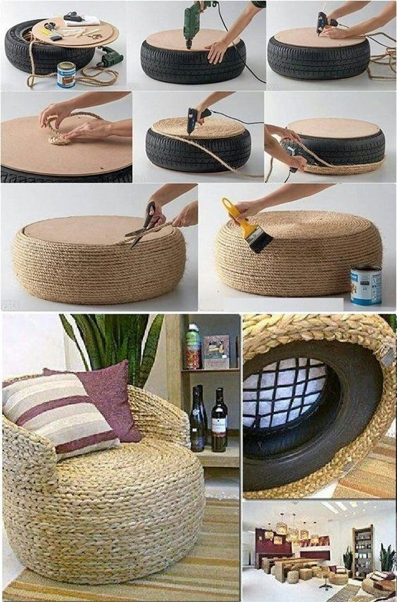 Puff or small tire bench – kreativ