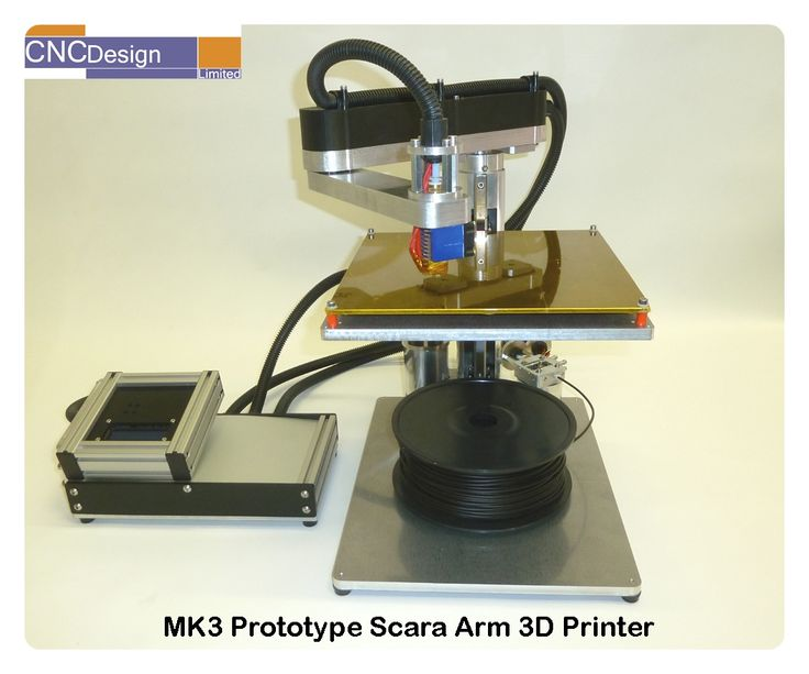 Scara Robot Arm fitted with attachments for 3D Printing