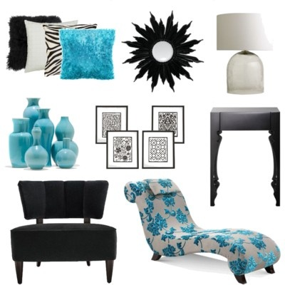 Some Modern Accessories For A Black, White And Turquoise Bedroom House Decor  The Blues