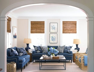 navy couch inspiration