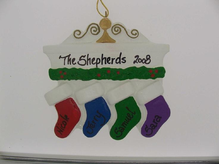 Stockings Family Ornament