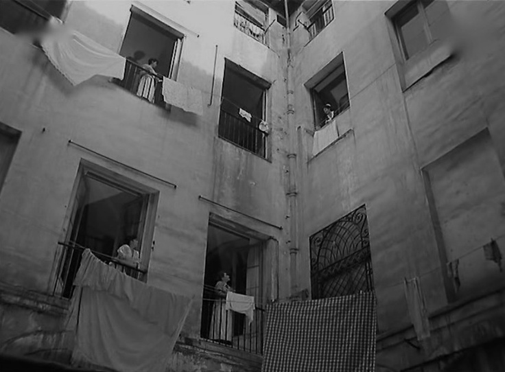 Mi Calle, 1960. A typical Spanish patio in old Madrid.