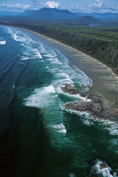 Camping at Green Point, Pacific Rim National Park Reserve, Vancouver Island, BC, Canada
