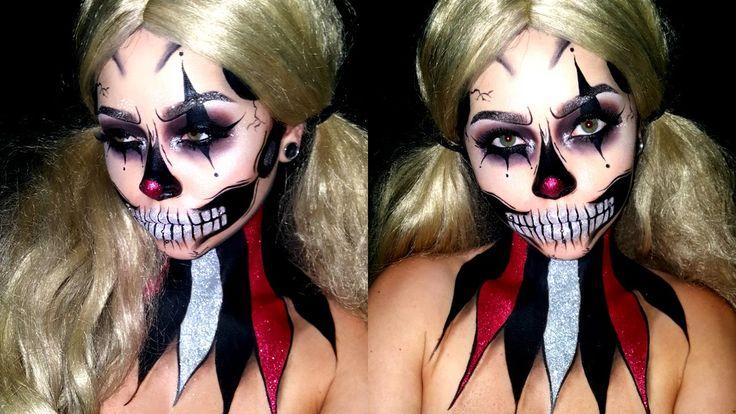 Glitter Clown Skull | HALLOWEEN MAKEUP | SFXPaint