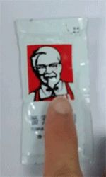 How to make Colonel Sanders a demon for Halloween! (I don't think the kids will be happy with ketchup packets in their bags, though...)