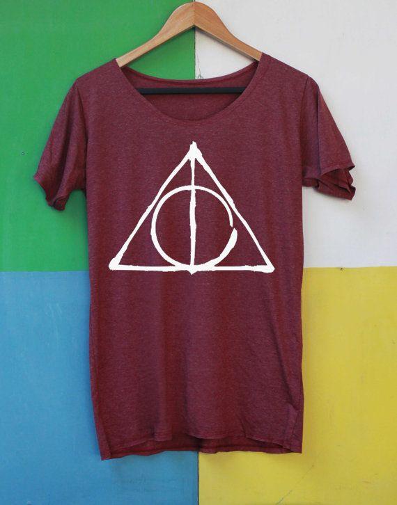 Harry Potter Shirt Deathly Hallows Shirts tshirts T-Shirt T Shirt TShirt Tee Softly Women – size S M L