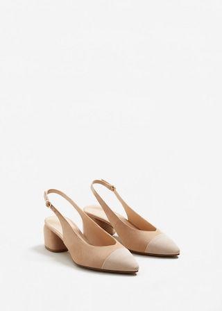 Texture pointed slingback shoes - Woman | MANGO Ukraine